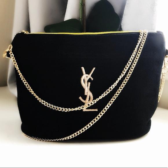 f9aafa06463 Yves Saint Laurent Bags | 24hr Sale Ysl Black Makeup Bag Crossbody ...